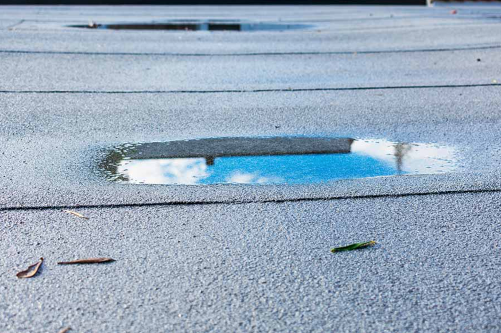 signs you need roof repair for your flat roof